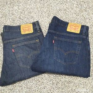 Bundle Of 2 Levi's Men's 569 Loose Straight Jeans